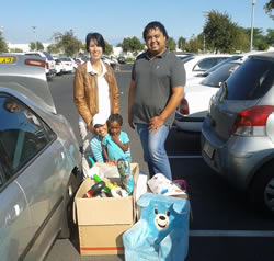 Jenny and Cheslan for donating all the toys
